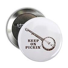 Banjo Keep on Pickin' Button