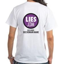 Lies.com T-Shirt (white)