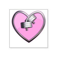 """heart.png Square Sticker 3"""" x 3"""""""