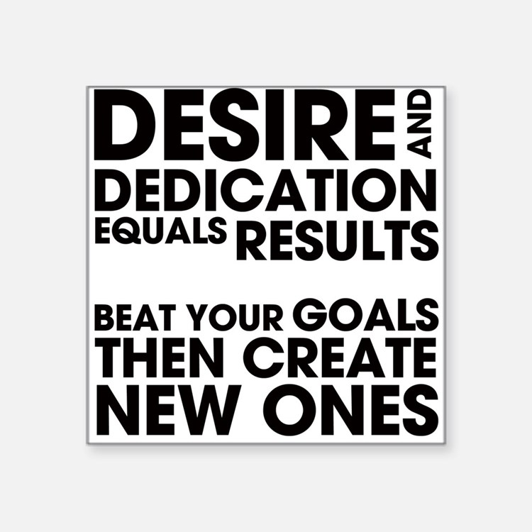 "DESIRES-AND-DEDICATION.png Square Sticker 3"" x 3"""