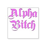 alpha-b.png Square Sticker 3
