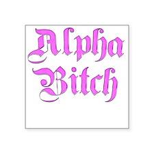 "alpha-b.png Square Sticker 3"" x 3"""