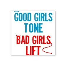 """good-bad.png Square Sticker 3"""" x 3"""""""