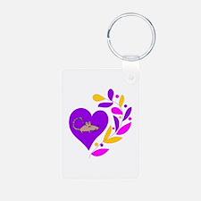 Rat Heart Keychains
