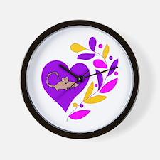 Rat Heart Wall Clock