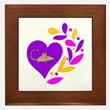 Rat Heart Framed Tile