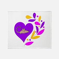 Rat Heart Throw Blanket