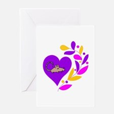 Rat Heart Greeting Card