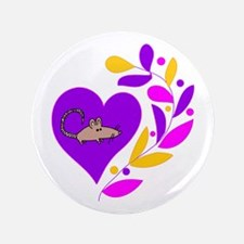 """Rat Heart 3.5"""" Button (100 pack)"""