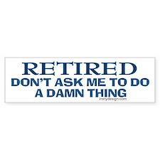 Retired Humor Bumper Car Sticker