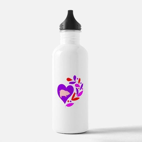 Pig Heart Water Bottle
