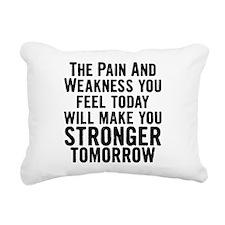 stronger-tomorrow.png Rectangular Canvas Pillow