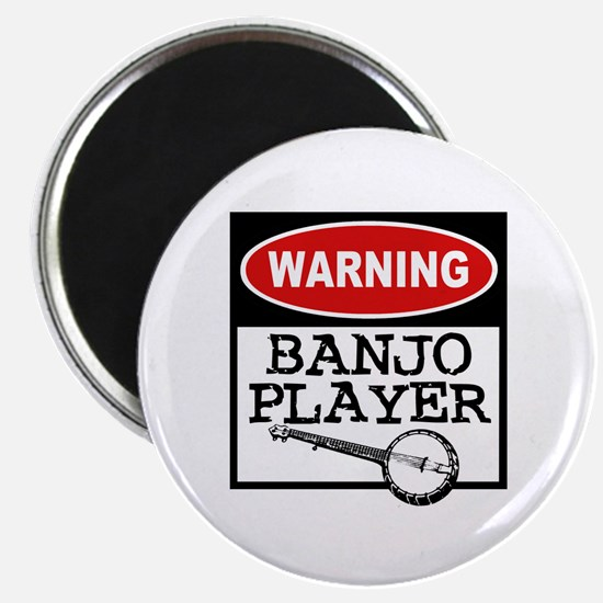 Warning Banjo Player Magnet