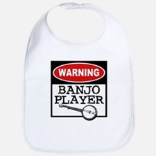 Warning Banjo Player Bib