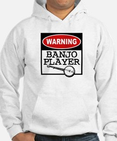 Warning Banjo Player Hoodie