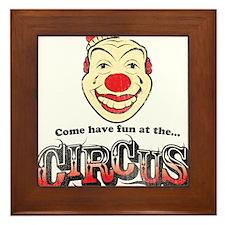 Circus Clown Framed Tile