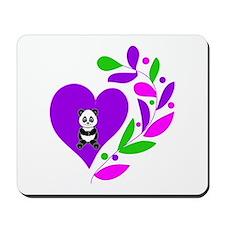 Panda Heart Mousepad