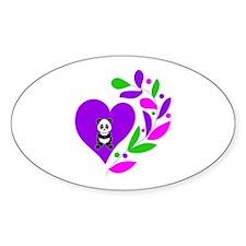 Panda Heart Decal
