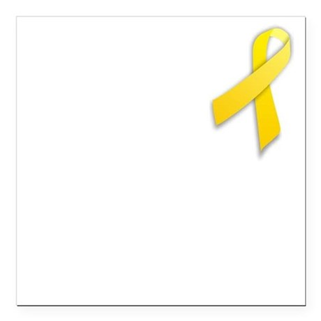 "Suicide prevention ribbon Square Car Magnet 3"" x 3"