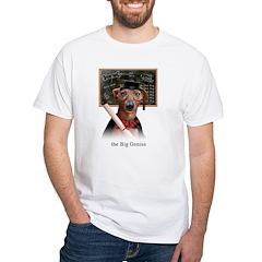 Italian Greyhound Big Genius White T-Shirt