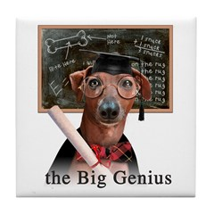 Italian Greyhound Big Genius Tile Coaster
