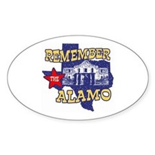 Texas Remember the Alamo Oval Decal