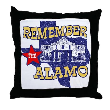 Texas Remember the Alamo Throw Pillow