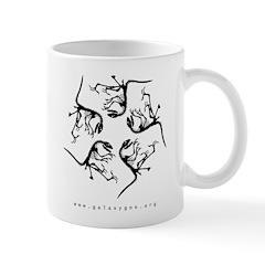Deinonychus, Black on White Mug