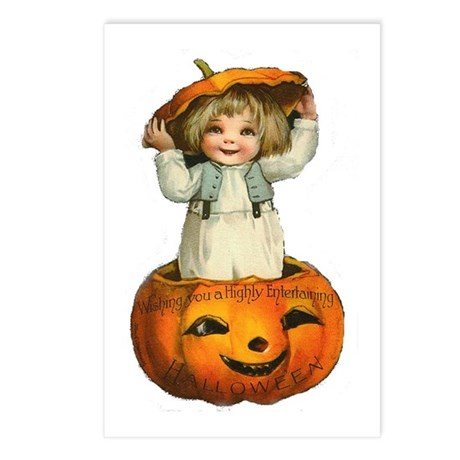 Victorian Halloween Baby Postcards (Package of 8)