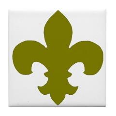 Fleur D'Lis Tile Coaster