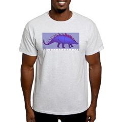 Stegosaurus Ash Grey T-Shirt