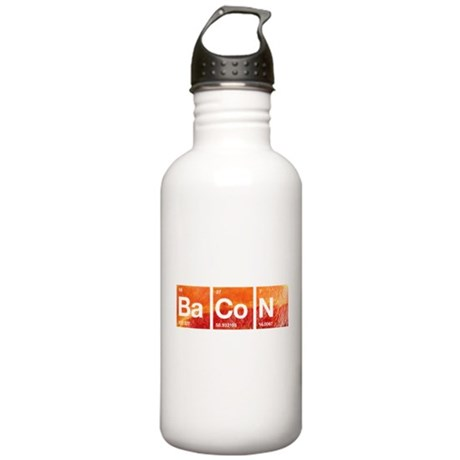 I Love Bacon and a Periodic Table Water Bottle