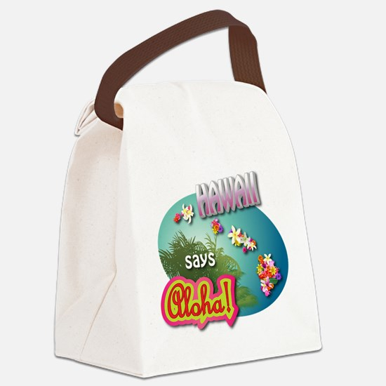Unique Lanai Canvas Lunch Bag
