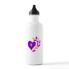 Monkey heart Water Bottle