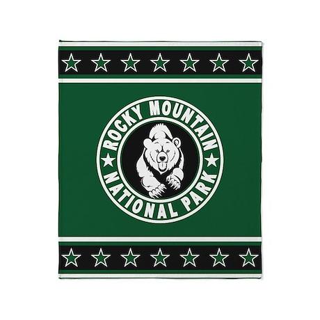 Rocky Mountain Green Circle Throw Blanket