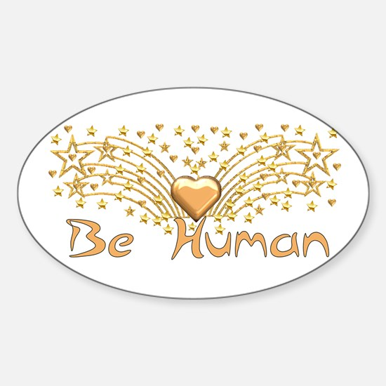 Be Human Oval Decal