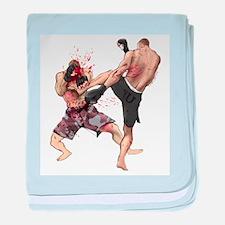 Muay Thai Kick baby blanket