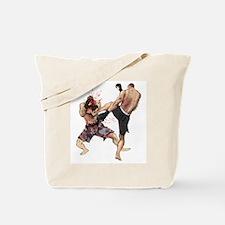 Muay Thai Kick Tote Bag