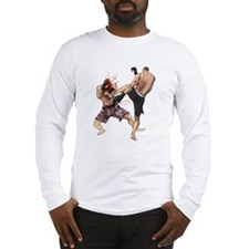 Muay Thai Kick Long Sleeve T-Shirt