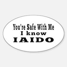 I Know Iaido Sticker (Oval)