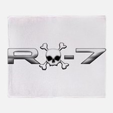 RX-7 Skull Throw Blanket