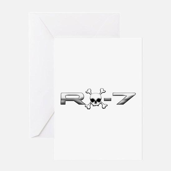 RX-7 Skull Greeting Card