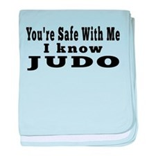 I Know Judo baby blanket
