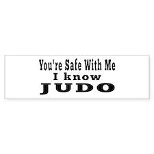 I Know Judo Bumper Sticker