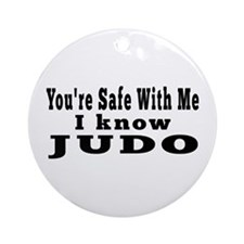 I Know Judo Ornament (Round)