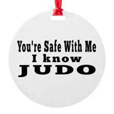 I Know Judo Round Ornament