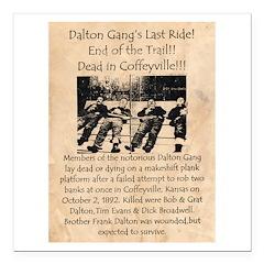Dalton Gangs Last Ride Square Car Magnet 3