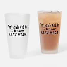 I Know Krav Maga Drinking Glass