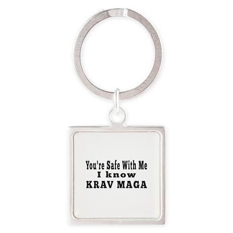 I Know Krav Maga Square Keychain