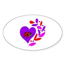 Ladybug Heart Decal